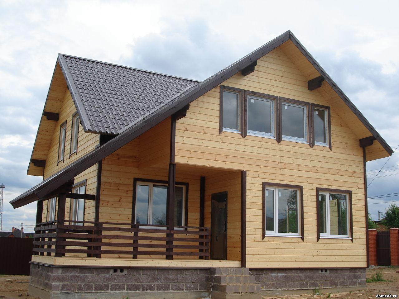 Деревянный дом из клееного бруса под ключ.