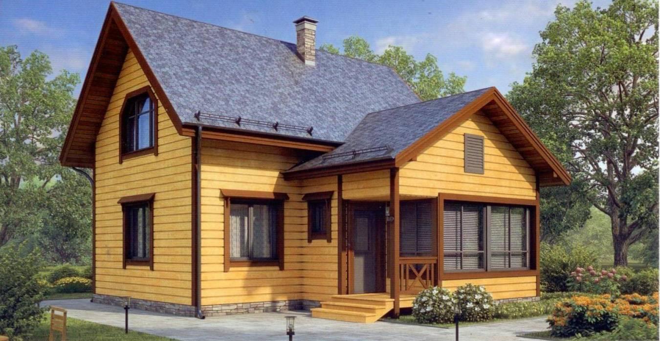 Деревянный каркасный дом под ключ.